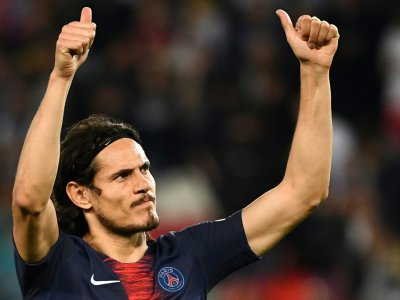 L'attaquant du Paris Saint-Germain, Edinson Cavani, au Parc des Princes à Paris, le 21 avril 2019