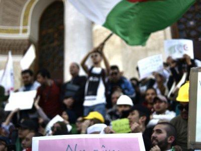 Manifestation d'étudiants algériens contre le régime le 7 mai 2019 à Alger - RYAD KRAMDI [AFP]