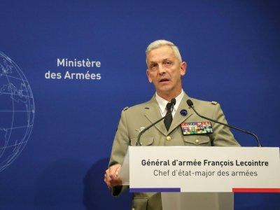 Le général François Lecointre, chef d'état-major de l'armée française, lors d'une conférence de presse à Paris le 10 mai 2019    JACQUES DEMARTHON [AFP]