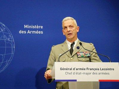Le général François Lecointre, chef d'état-major de l'armée française, lors d'une conférence de presse à Paris le 10 mai 2019 - JACQUES DEMARTHON [AFP]