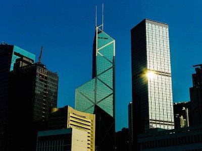 La tour de la Banque de Chine (c) de l'architecte Ieoh Ming Pei, le 30 juillet 2012 à Hong Kong - Philippe LOPEZ [AFP/Archives]