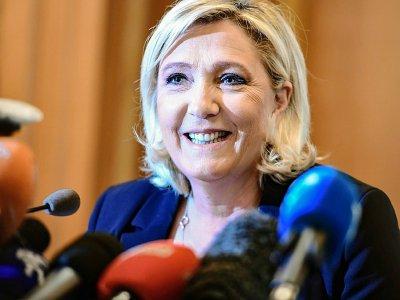 Marine Le Pen, présidente du Rassemblement national (RN) à Milan le 19 mai 2019    Miguel MEDINA [AFP]