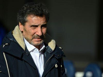Le président du MHR, Mohed Altrad, avant le match de phase de poules de la Coupe d'Europe face à Newcastle, à Montpellier, le 12 janvier 2019 - SYLVAIN THOMAS [AFP/Archives]