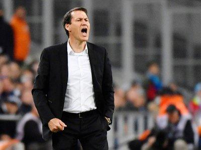 L'entraîneur de Marseille, Rudi Garcia, lors du match de Ligue 1 face à Nantes, au Vélodrome, le 28 avril 2019    GERARD JULIEN [AFP/Archives]