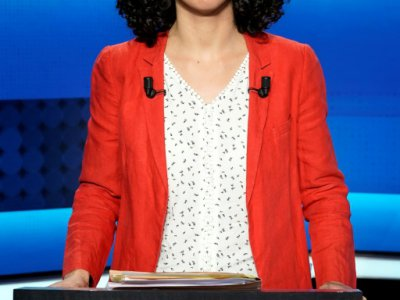 La tête de liste de la France insoumise (LFI) Manon Aubry, avant le débat de France 2, à Saint-Cloud, le 22 mai 2019 - Lionel BONAVENTURE [AFP]