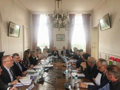 La réunion du Conseil d'administration de l'établissement public du Pin. - CD61