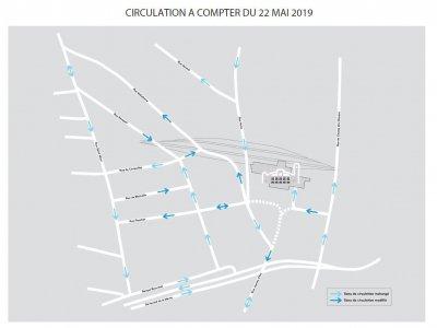 Le nouveau plan de circulation autour de la gare. - MRN