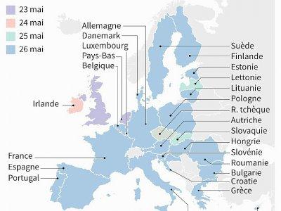 Elections européennes : le calendrier    Juliette VILROBE [AFP]