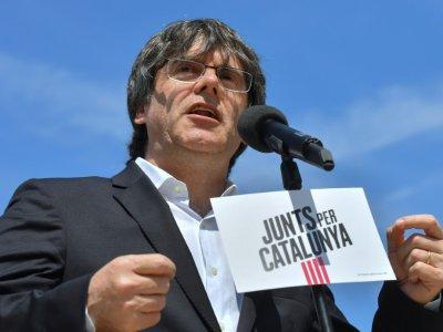 L'indépendantistes catalan Carles Puigdemont, ici le 24 mai 2019 à Bruxelles, a été élu au parlement éuropéen le 26 mai 2019    EMMANUEL DUNAND [AFP]