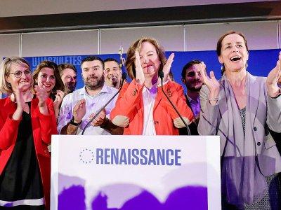 Nathalie Loiseau applaudit après l'annonce des résultats aux Européennes, le 26 mai 2019 à la Mutualité à Paris    ludovic MARIN [AFP]