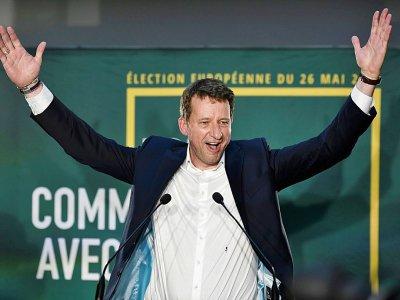 Yannick Jadot célèbre les résultats d'EELV aux Européennes, le 26 mai 2019 à Paris    STEPHANE DE SAKUTIN [AFP]