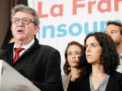 Jean-Luc Mélenchon et Manon Aubry après l'annonce des résultats à Paris, le 26 mai 2019    Geoffroy VAN DER HASSELT [AFP]