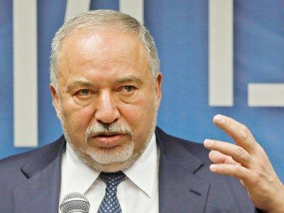 L'ancien ministre de la Défense Avigdor Lieberman lors d'une réunion de son parti, Israel Beiteinou, le 27 mai 2019 à Jérusalem - MENAHEM KAHANA [AFP]