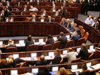 Les députés israéliens votent une loi pour dissoudre le parlement, le 29 mai 2019 à Jérusalme    Menahem KAHANA [AFP]