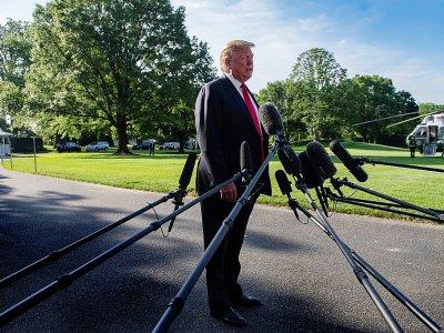 Le président américain Donald Trump s'exprime depuis les jardins de la Maison Blanche le 30 mai 2019    Jim WATSON [AFP]