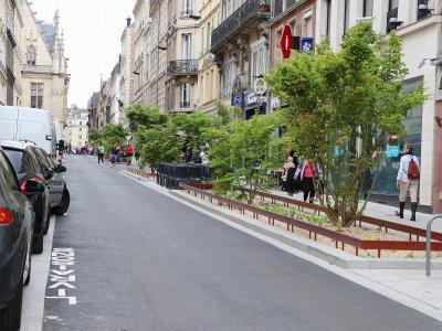 La rue Rollon a laissé la place à davantage de verdure.    Pierre Durand-Gratian