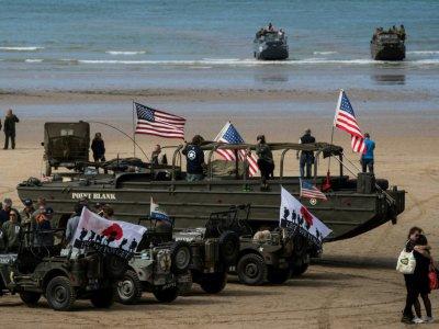 Préparatifs des cérémonies du 75e anniversaire du débarquement, le 3 juin 2019 à Arromanches-les-Bains    JOEL SAGET [AFP]