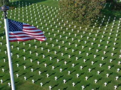 Le cimetière américain de Colleville-sur-Mer en octobre 2018    DAMIEN MEYER [AFP/Archives]