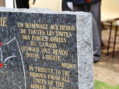 L'inscription sur le nouveau monument à Chambois.    Eric Mas