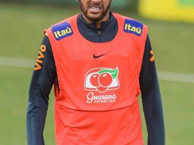 Neymar à l'entraînement, le 4 juin 2019 à Teresopolis, dans l'Etat de Rio de Janeiro    CARL DE SOUZA [AFP]