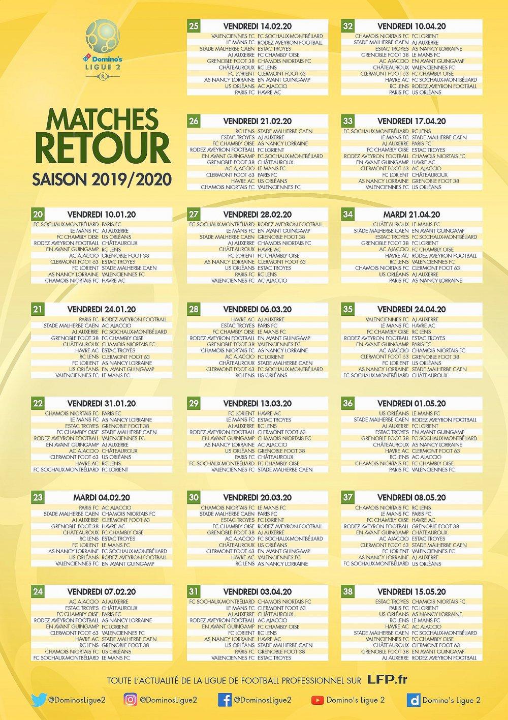 Calendrier 2020 Ligue 2.Rouen Ligue 2 Hac Le Calendrier 2019 2020 A Ete Devoile