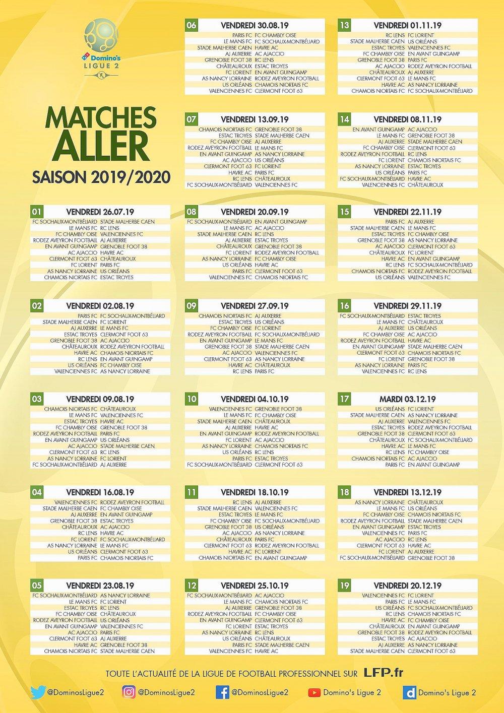 Calendrier Hac.Rouen Ligue 2 Hac Le Calendrier 2019 2020 A Ete Devoile