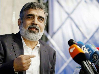 Le porte-parole de l'Agence iranienne de l'énergie atomique Behrouz Kamalvandi à Téhéran le 17 juillet 2018 - ATTA KENARE [AFP/Archives]