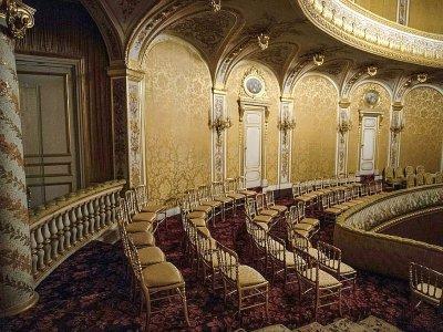 Loge impériale du théâtre rénové du château de Fontainebleau, le 17 juin 2019    Christophe ARCHAMBAULT [AFP]