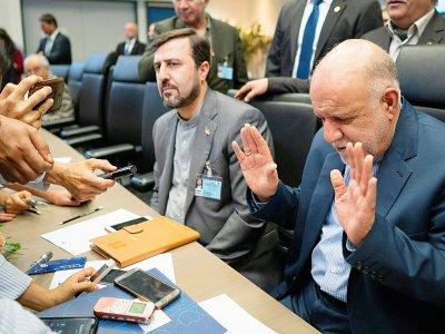 Le ministre iranien du Pétrole, Bijan Namdar Sanganeh, lors d'une conférence des pays Opep/non-Opep, le 1er juillet 2019 à Vienne    JOE KLAMAR [AFP]