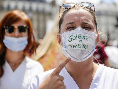 Manifestation d'urgentistes le 6 juin 2019 à Paris - Aurore MESENGE [AFP/Archives]