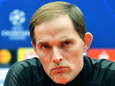 L'entraîneur du PSG Thomas Tuchel a martelé toute la seconde partie de saison qu'il souhaitait deux milieux supplémentaires, ici le 10 décembre 2018 en conférence de presse à Belgrade    ANDREJ ISAKOVIC [AFP/Archives]