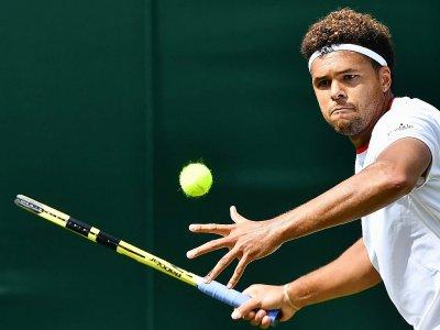 Le Français Jo-Wilfried Tsonga lors du premier tour de Wimbledon le 2 juillet 2019    Ben STANSALL [AFP/Archives]