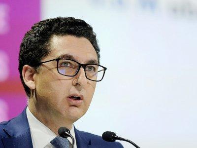 Le président de Canal+ Maxime Saada, le 19 avril 2018 à Paris    ERIC PIERMONT [AFP/Archives]