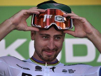 Peter Sagan après sa victoire dans la 5e étape du Tour de France, le 10 juillet 2019 à Colmar    Marco Bertorello [AFP]
