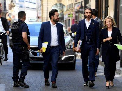 Le candidat à l'investiture LREM pour la mairie de Paris Cédric Villani le 9 juillet 2019 à Paris - ALAIN JOCARD [AFP]