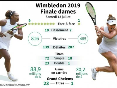 Présentation de la finale simple dames de Wimbledon entre l'Américaine Serena Williams et la Roumaine Simona Halep