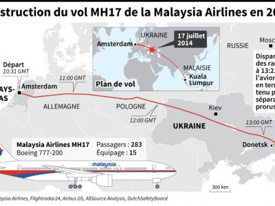 La destruction du vol MH17 en 2014