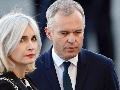 François de Rugy et  son épouse Séverine de Rugy au défilé du 14 juillet 2017 à Paris    ALAIN JOCARD [AFP/Archives]