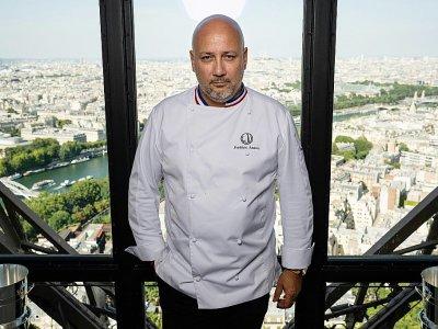 Frédéric Anton dans son restaurant à la Tour Eiffel le 15 juillet 2019    Lionel BONAVENTURE [AFP]