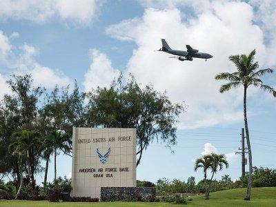 La base aérienne américaine Andersen à Yigo, le 15 août 2017 sur l'île de Guam    ED JONES [AFP/Archives]