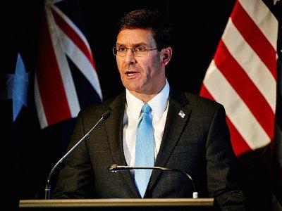 Le chef du Pentagone, Mark Esper, le 4 août 2019 à Sydney, en Australie    Saeed KHAN [AFP/Archives]