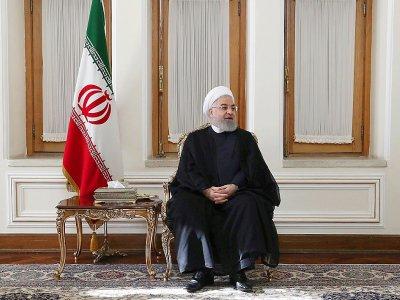 Photo diffusée par la présidence iranienne du président Hassan Rohani, lors d'une réunion au ministère des Affaires étrangères à Téhéran, le 6 août 2019 - HO [Iranian Presidency/AFP]