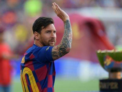 L'attaquant argentin de Barcelone, Lionel Messi, lors du Trophée Joan Gamper face à Arsenal, au Camp Nou, le 4 août 2019    Josep LAGO [AFP/Archives]