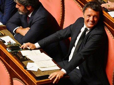 Le sénateur et ancien Premier ministre de centre-gauche Matteo Renzi, à Rome le 20 août 2019    Andreas SOLARO [AFP]