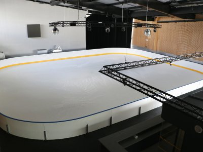La patinoire de loisirs accessible au grand public.