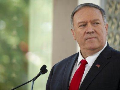 Le chef de la diplomatie américaine Mike Pompeo, le 22 août 2019 à Ottawa, au Canada - Sebastien ST-JEAN [AFP]