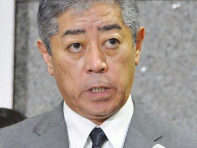 Le ministre japonais de la Défense Takeshi Iwaya, le 23 août 2019 à Tokyo - JIJI PRESS [JIJI PRESS/AFP]