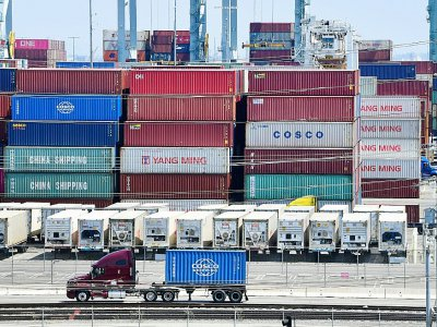 Des conteneurs en provenance de Chine, le 23 août 2019 au port de Long Beach, en Californie