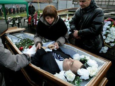 Les funérailles du juriste Sergueï Magnitski, sur une photo prise le 20 novembre 2009 et fournie par Heritage Capital    - [HERMITAGE CAPITAL MANAGEMENT/AFP/Archives]