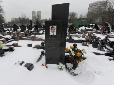 La tombe à Moscou du juriste Sergueï Magnitski, photographiée le 7 décembre 2012    ANDREY SMIRNOV [AFP/Archives]
